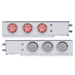 """Stainless Steel Rear Light Bars with LED Lights, 2"""" Bolt Spacing"""
