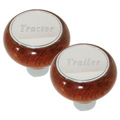 Rosewood Tractor/Trailer Air Brake Knobs
