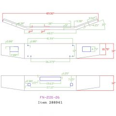 "Kenworth T800B 14"" Open-End Chrome Bumper"