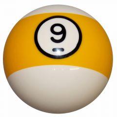 9 Ball Yellow Stripe Billiard Shift Knob
