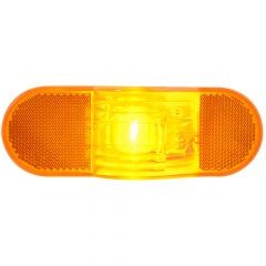 Amber Oval Sealed Light with Reflector