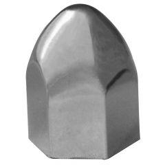 "13/16"" Chrome Plastic Bullet Nut Cover - Push On"