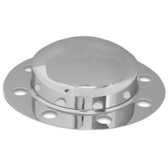 Chrome Front Axle Cover for Stud-Pilot Steel Wheel
