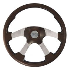 Mahogany Wildwood Steering Wheel 18""