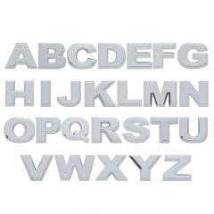 "1"" Chrome Letters, Tape Mount"