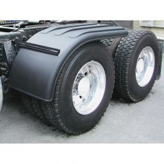 "66"" Black Poly Half Fenders and Mounting Kit"