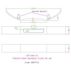 """Freightliner M2 13"""" Set Back Chrome Bumper"""