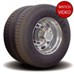 Twist & Lock Aero Wheel Covers, Clear for Dual Wheel Axles 4PK