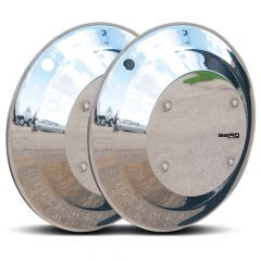 Twist & Lock Aero Covers Stainless for Steer Axle