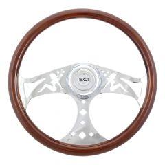 "3 Spoke Sitting Lady Steering Wheel 18"""