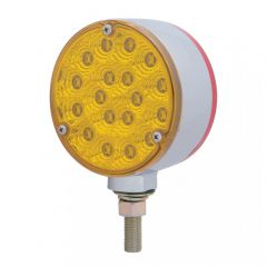 """4"""" Amber/Red 18 LED Reflector Double Face Light"""