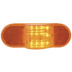 """6-3/8"""" Amber 12 LED Oval Side Marker with Reflector"""
