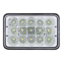 High Power 15 LED Rectangular Headlight