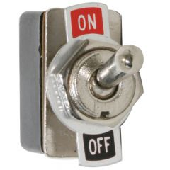 Metal Toggle Switch, On-Off, 2 Blade