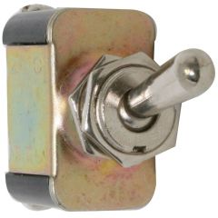 Metal Toggle Switch, On-Off, 2 Screw