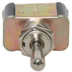 Metal Toggle Switch, On-Off-On, 3 Screw