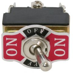 Metal Toggle Switch, On-Off-On, 6 Screw