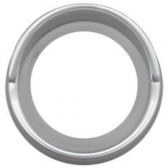 "Kenworth Chrome Gauge Cover with Visor 2 5/16""D"