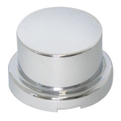 """3/4"""" Chrome Plastic Top Hat Nut Cover - Push On"""