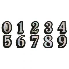 Prismatic Adhesive Number Decals