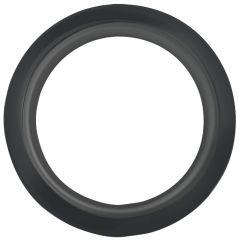 "4"" Round Black Rubber Grommet"