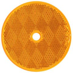 """3 1/4"""" Round Amber Reflector (Screw In)"""