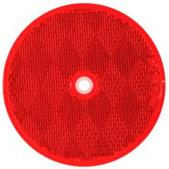 """3 1/4"""" Round Red Reflector (Screw In)"""
