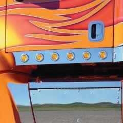 "Peterbilt 387 Cab Panels with 2"" Round LED Lights"