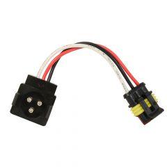 3-Pin Round to 3-Pin Straight Adapter Plug
