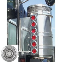 """KW 13"""" Air Cleaner Bars Red/Clear Bulls-Eye LEDs"""