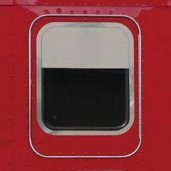"Kenworth 8"" Stainless Chop Top Sleeper Window Trim"
