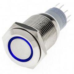 Chrome Flush Mount LED Switch