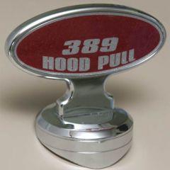 PB 389 Oval Hood Ornament with Hood Pull Base