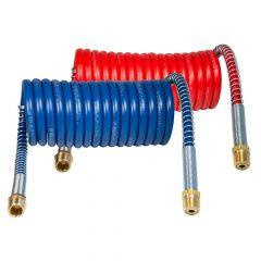 8ft Red and Blue Coiled Air Hoses