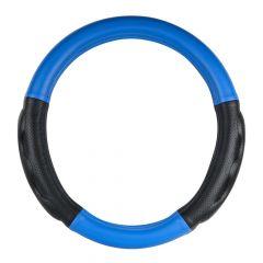 """Heavy Duty Matte Blue 18"""" Steering Wheel Cover"""