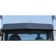 "Kenworth T680 T660 11"" Stainless Steel Drop Visor"