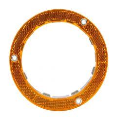 """4"""" Round Reflective Plastic Flange Mounted Light Bezel"""