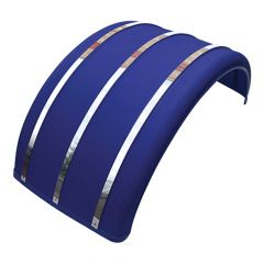 Blue Poly Single Axle Fender w/Stainless Strips