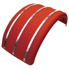 Poly Single Axle Fender with Stainless Steel Strips