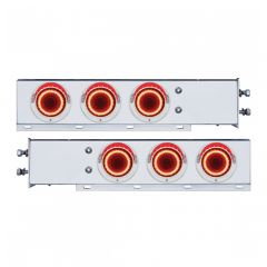 "SS Rear Light Bars with Red Mirage Lights, 2.5"" Spacing"