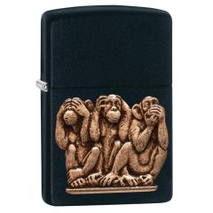 Three Monkeys Zippo Lighter