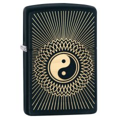 Yin and Yang Black Matte Zippo Lighter