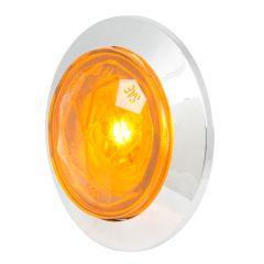 "1"" 1 LED Diamond Lens Dual Function Light with Bezel"
