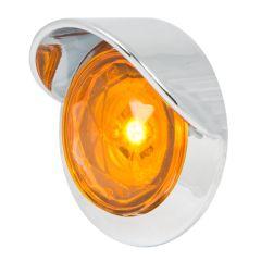 """1"""" 1 LED Diamond Lens Dual Function Light with Bezel & Visor"""