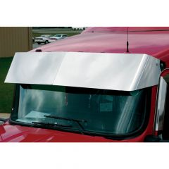 "KW 13"" Stainless Drop Visor for Curved Windshields"