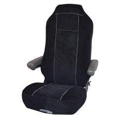 Leather & Corduroy Seat Cover for Kenworth T680, T880
