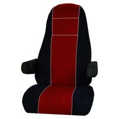 Leather & Corduroy Seat Cover for Peterbilt