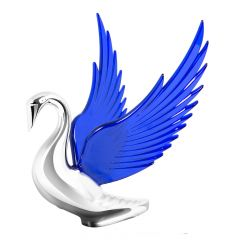 Bugler Windrider Hood Ornament with Blue Wings