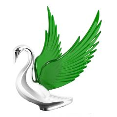 Bugler Windrider Hood Ornament with Green Wings