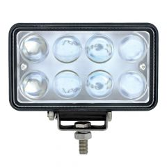 8 LED Rectangular Work Light with Projector Lens
